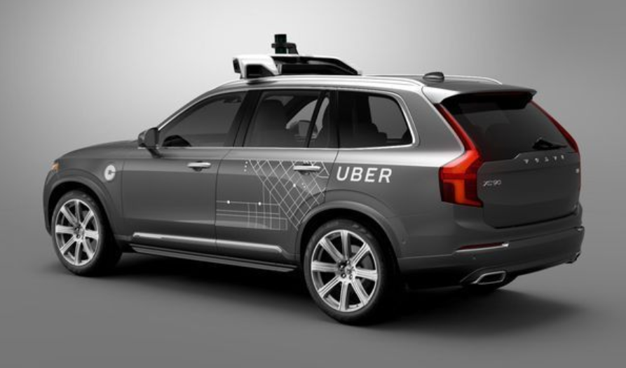 Self driving Uber Volvo XC90