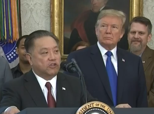Donald Trump and Hock Tan