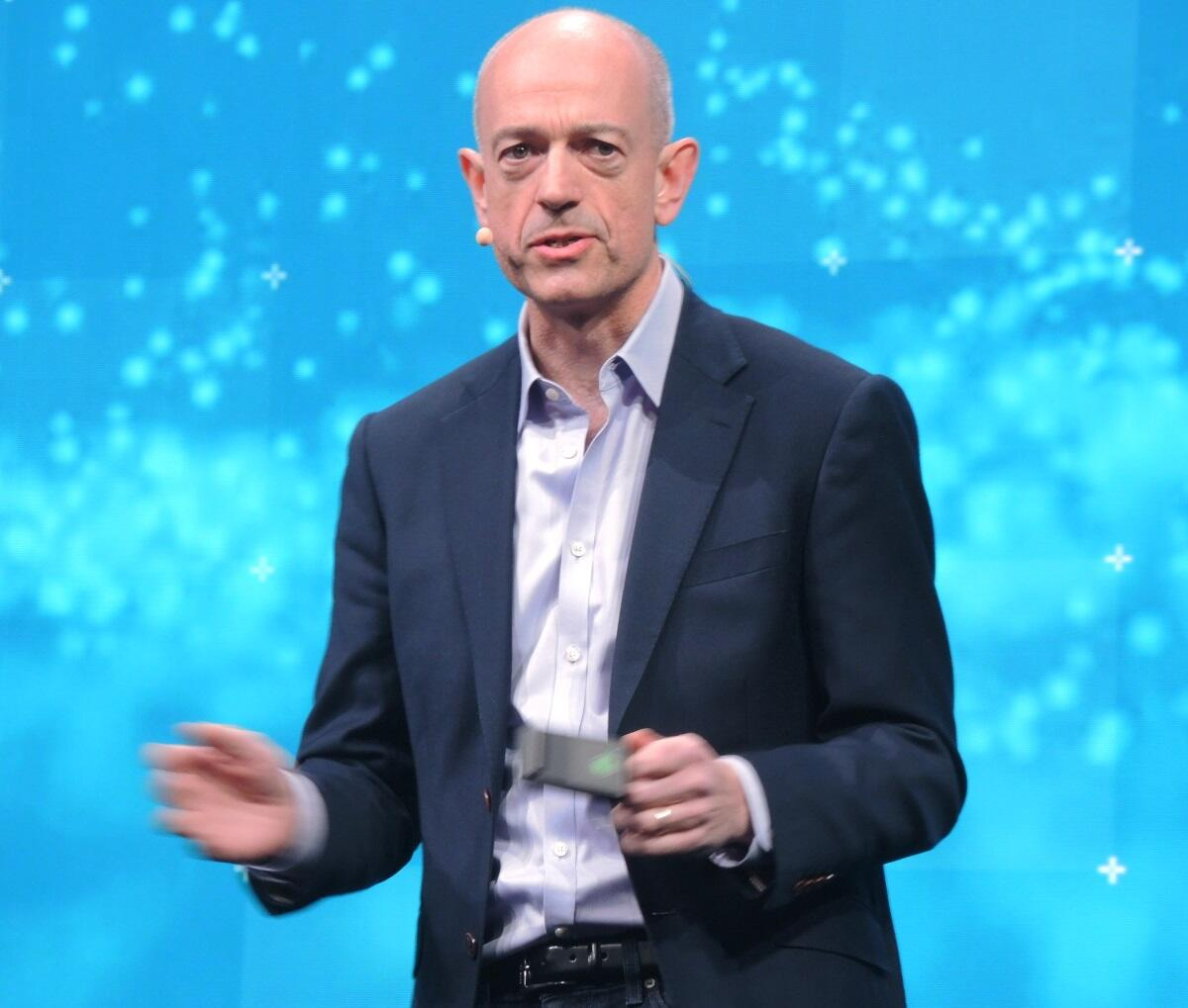 Segars shared his vision for the company in his keynote at Arm Tech Con. (Image: EE Times)