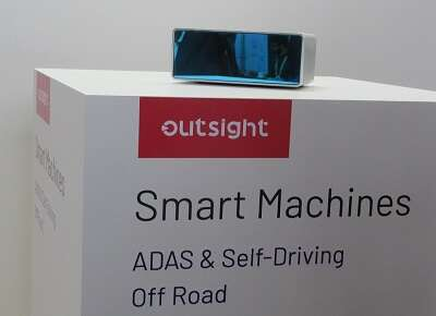Outsight box shown at AutoSens (Photo: EE Times)