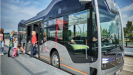 Semi-automated 'city bus of the future' hits the road